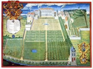 Le jardin du Roy - Gravure de F. Scalberge 1636